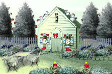 Garden design:Santas home in North Pole