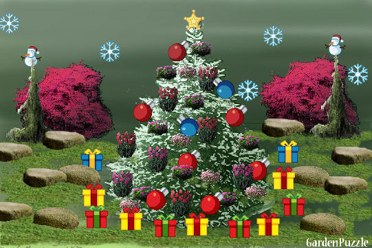 Garden design:a xmass tree - Spring