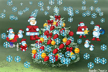 Garden design:A photo of Christmas in album of Santa