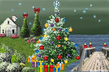 Garden design:magical holiday