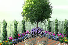 Garden design:Yard with Flowers