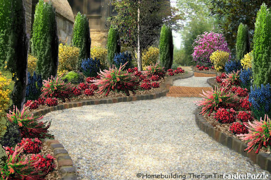 Garden design:TRAIL OF PEACE - Spring