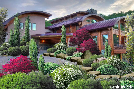 Garden design:Contemporary mountain home (my version) - Spring
