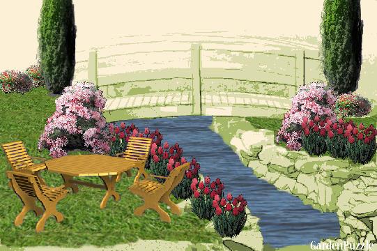 Jardin de casa de campo gardenpuzzle online garden - Jardines casas de campo ...