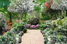 Garden design:white path