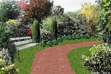Garden design:lost bench