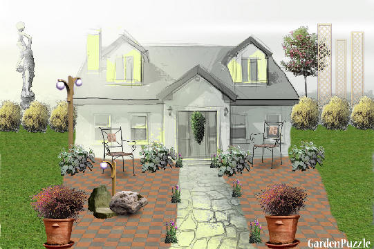 Garden design:Spruce Village Charming Home - Spring