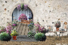 "Garden design:A ""window"" in the wall"