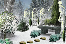 "Garden design:""Winter Sonata"""