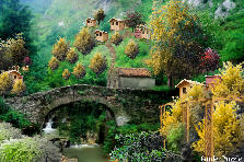 Old Stone Bridge In Quaint Mountian Villa - Autumn