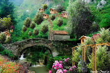 Old Stone Bridge In Quaint Mountian Villa - Summer