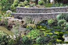 Garden design:To AprilRain, red bridge - My version