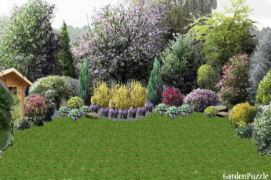 Different backyard design gardenpuzzle online garden for Different garden designs