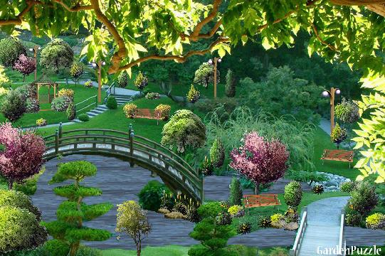 Japanese water garden gardenpuzzle online garden for Small japanese water garden