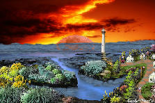 Garden design:Sunset of Dreams-My version - The Lighthouse.
