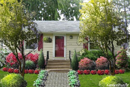 Small House GardenPuzzle Online Garden Planning Tool