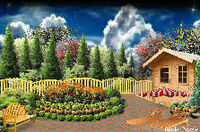 Garden design:Windy sky..