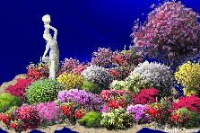 Garden design:goddess of the flowers