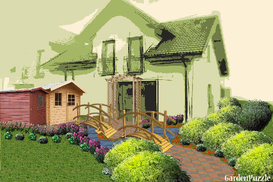 Planning A Garden In Front Of House : Game house front yard gardenpuzzle garden
