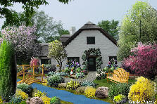 Garden design:New cottage house