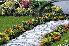 Garden design:orange path