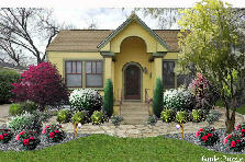 Garden design:Small yellow house
