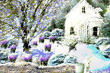 Garden design:Snow keeps falling...