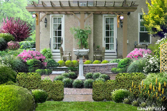 Garden design:Cottage Garden in spring - Spring