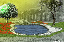 Garden design:Little Pond