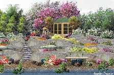 Garden design:Rock garden to the beach