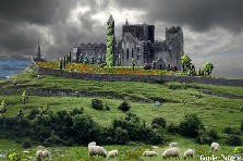 Garden design:Brewing Storm Over Irish Castle