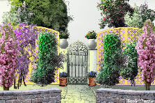 Garden design:Gate to paradise