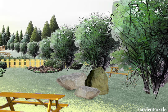 Garden design:Rustic Recreation - Spring
