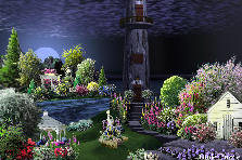 Garden design:Midnight Moonlight