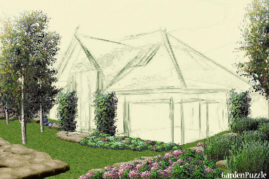 Garden design:Country Estate - Spring