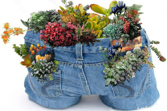Blue jean planter gardenpuzzle online garden planning tool for Garden 50 designs to help you destress