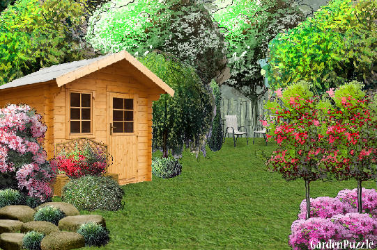 Garden design:Same background Different style - Spring