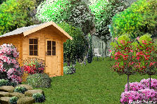Garden design:Same background Different style