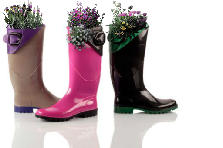 Garden design:Rain Boot planter