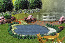 Garden design:pond rest
