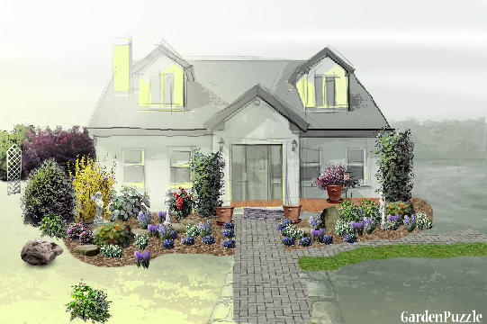 Planning A Garden In Front Of House : Front of house gardenpuzzle garden planning tool