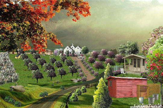 Garden design:Bad weather over the little farm. - Spring