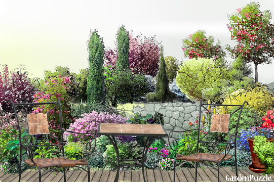Garden design:Place four two - Spring