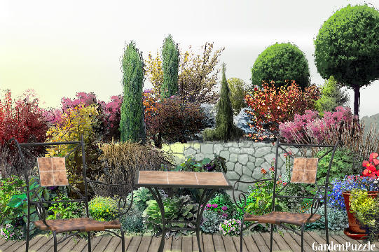 Garden design:Place four two - Autumn