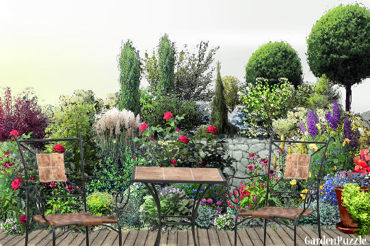 Garden design:Place four two - Summer