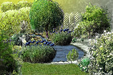 Garden design:Romantic pond