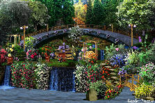 Garden design:Under the bridge