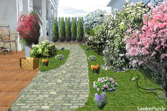 Garden design:Entryway simple - Spring