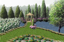 Garden design:garden in garden rice...