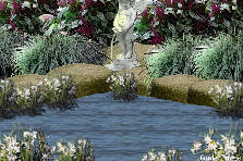 Garden design:Amaranth Fountain